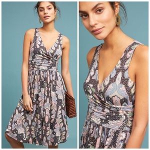 MAEVE by ANTHROPOLOGIE Leslie Paisley Jersey Dress